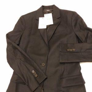 Theory wool sleek flannel jacket
